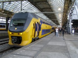 Train at Amsterdam Central Station
