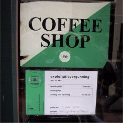 Amsterdam coffee shop license