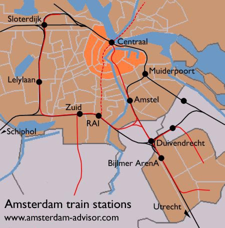 Amsterdam Train Schedules Train Stations in Amsterdam