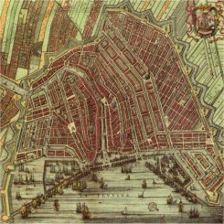 Map of 17th-century Amsterdam