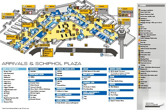 Aeroporto Amsterdam Mappa : Images and places pictures info amsterdam airport map