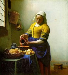 Vermeer, Kitchen Maid, Rijksmuseum