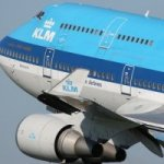 KLM boeing airplane