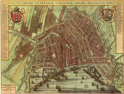 Map Amsterdam in 1640