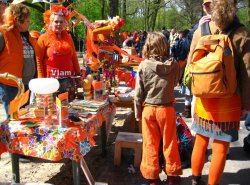 Queens Day Freemarket in Amsterdam
