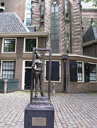 Sex worker statue, Amsterdam