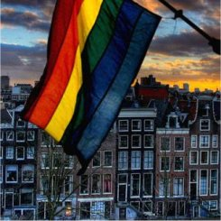 gay flag, amsterdam