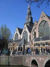 The old church in Amsterdam