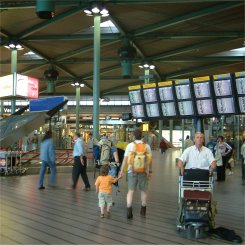 Schiphol Plaza, airport in Amsterdam