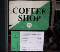 Coffee shop in Amsterdam with a license