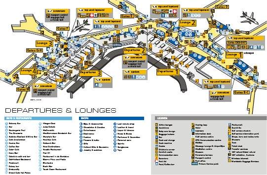 schiphol airport gate map Schiphol Airport Map Free Downloadable Map Of Amsterdam Airport schiphol airport gate map